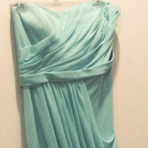 Davids Bridal bridesmaid dress w10482 size 12 Spa